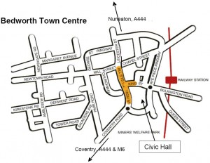 Map of Bedworth