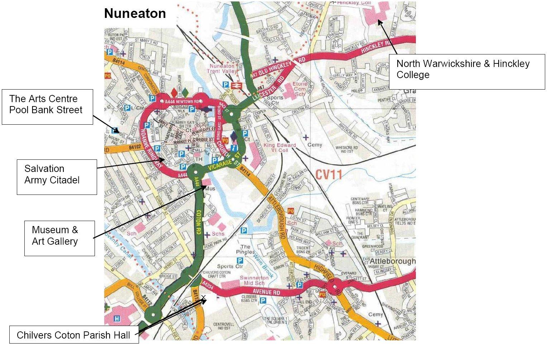 Festival Locations Nuneaton Festival of Arts